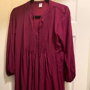 Old Navy Fuchsia Tunic Shirt Short M Medium